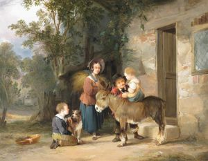 William Joseph Shayer - The Donkey Ride