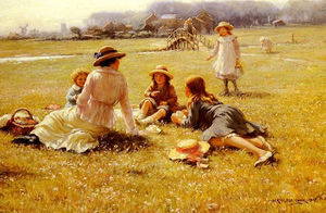 William Kay Blacklock - A Picnic Party