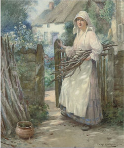 William Kay Blacklock - Bringing The Firewood Home