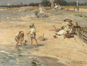 William Kay Blacklock - Building Castles In The Sand
