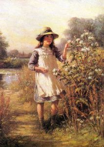 William Kay Blacklock - Girl With A Thistle