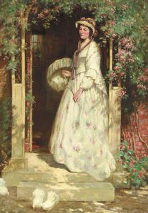 William Kay Blacklock - Portrait Of Mrs. Nellie Williams, The Artist's Wife
