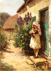 William Kay Blacklock - The Cottage Door'