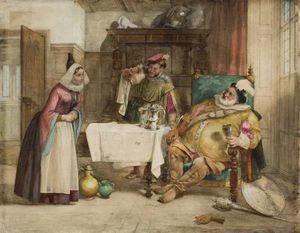 William Knight Keeling - Scene From Shakespeare's 'merry Wives Of Windsor