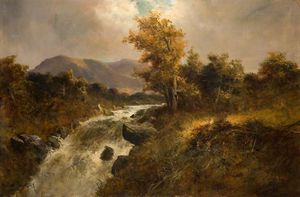 William Langley - Mountain Stream In Wales