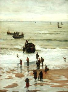 William Lionel Wyllie - Fishing Boats Setting Out From Portel
