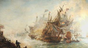 William Lionel Wyllie - The Battle Of North Foreland