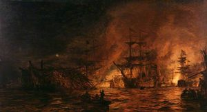 William Lionel Wyllie - The Battle Of The Nile
