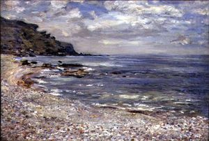 William Mctaggart - A Deserted Rocky Shore