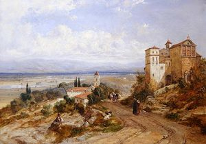Two Convents At Nemi by William Oliver  (order Fine Art hand made painting William Oliver)