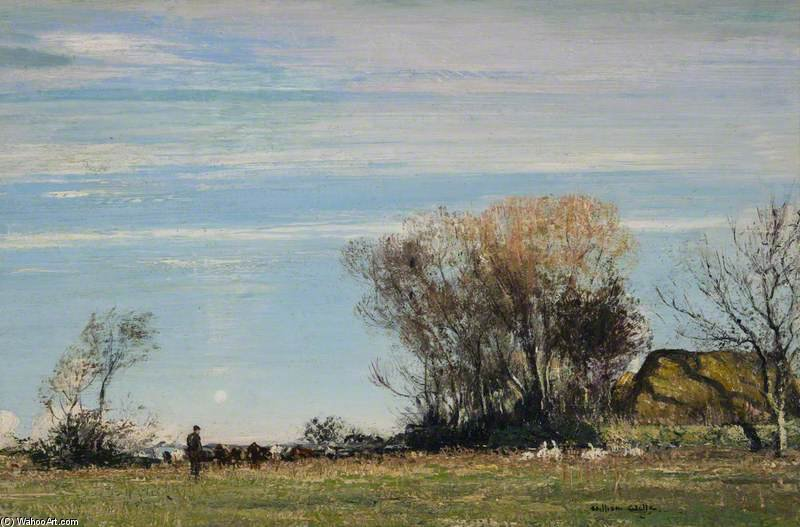 A Sunny Meadow by William Page Atkinson Wells (1871-1923, United Kingdom) | Museum Quality Reproductions | WahooArt.com