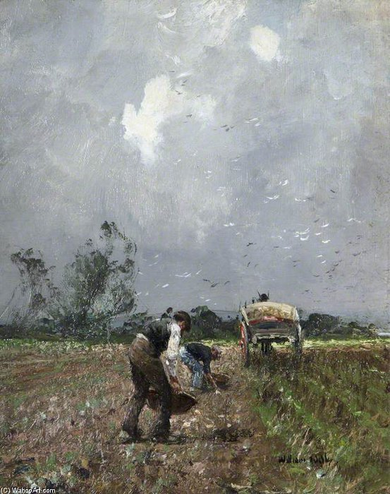 Field Workers by William Page Atkinson Wells (1871-1923, United Kingdom)