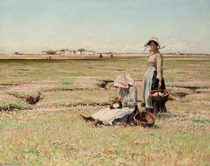 Summer Afternoon by William Page Atkinson Wells (1871-1923, United Kingdom) | Famous Paintings Reproductions | WahooArt.com