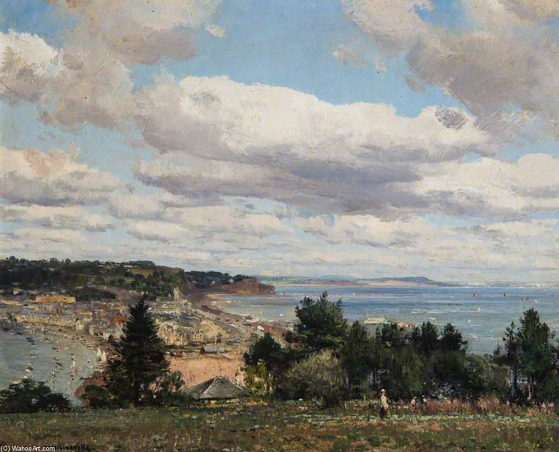 Teignmouth From Torquay Road by William Page Atkinson Wells (1871-1923, United Kingdom)