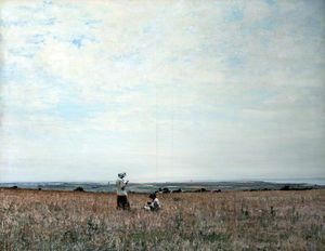 William Page Atkinson Wells - The Fields Of Ballacallow, Isle Of Man