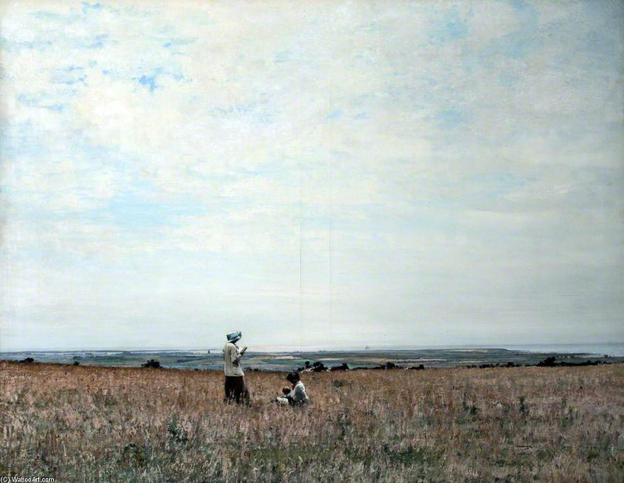 The Fields Of Ballacallow, Isle Of Man by William Page Atkinson Wells (1871-1923, United Kingdom) | Oil Painting | WahooArt.com