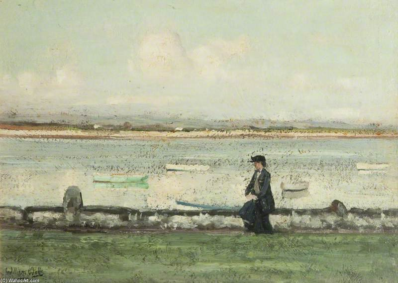 The Lune At Sunderland Point by William Page Atkinson Wells (1871-1923, United Kingdom)