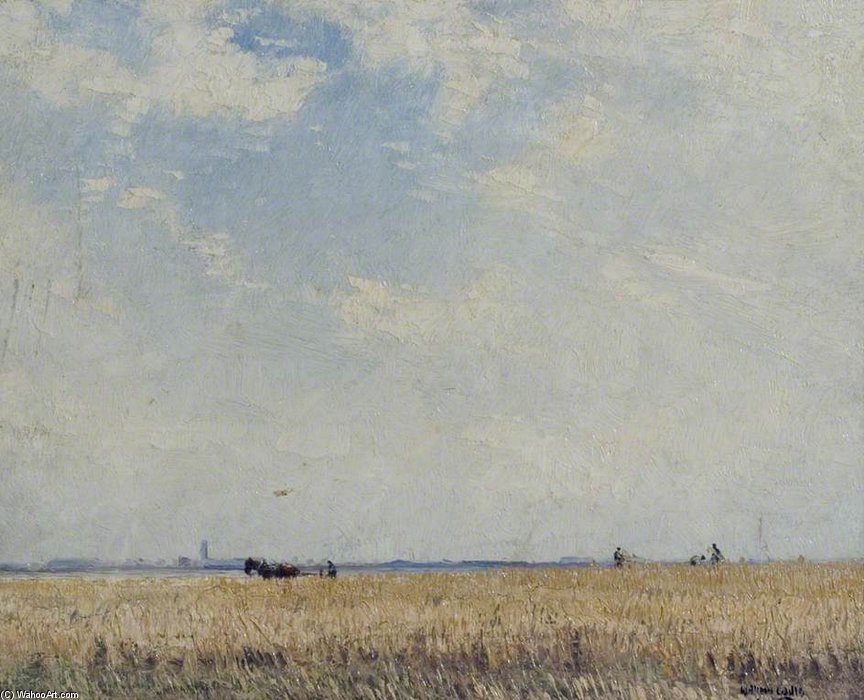 Wheat Field by William Page Atkinson Wells (1871-1923, United Kingdom)