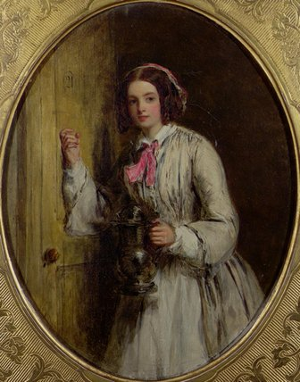 A Maid With A Flagon by William Powell Frith (1819-1909, United Kingdom) | Art Reproduction | WahooArt.com