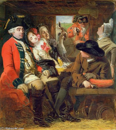 A Stagecoach Adventure by William Powell Frith (1819-1909, United Kingdom) | Oil Painting | WahooArt.com