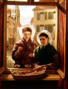 William Powell Frith - At My Window, Boulogne