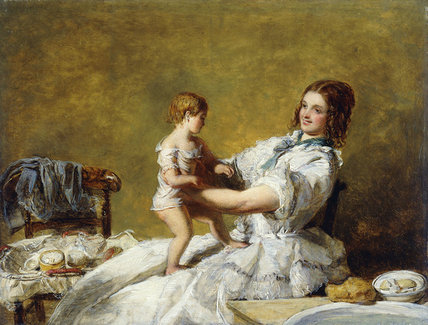 Bedtime by William Powell Frith (1819-1909, United Kingdom) | Oil Painting | WahooArt.com