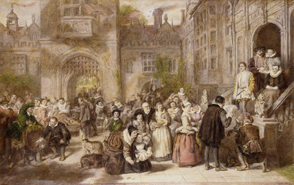 Coming Of Age In The Olden Time - by William Powell Frith (1819-1909, United Kingdom) | Museum Quality Reproductions | WahooArt.com