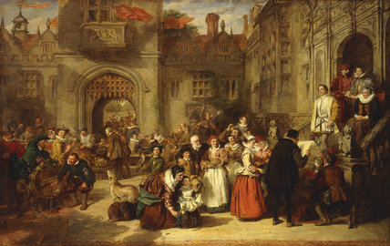 Order Paintings Reproductions | Coming Of Age In The Olden Time - by William Powell Frith (1819-1909, United Kingdom) | WahooArt.com