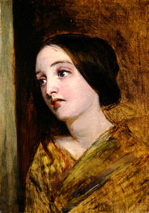 William Powell Frith - Head And Shoulders Of A Girl