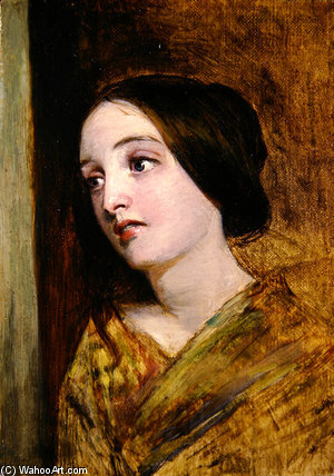 Head And Shoulders Of A Girl by William Powell Frith (1819-1909, United Kingdom)