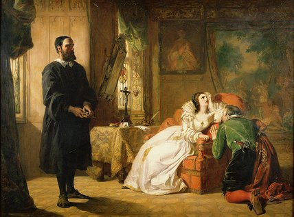 John Knox Reproving Mary by William Powell Frith (1819-1909, United Kingdom) | Paintings Reproductions William Powell Frith | WahooArt.com