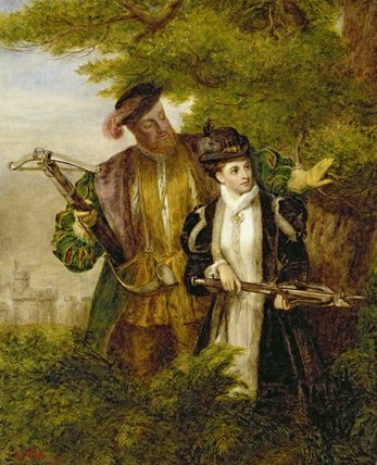 King Henry And Anne Boleyn Deer Shooting by William Powell Frith (1819-1909, United Kingdom)