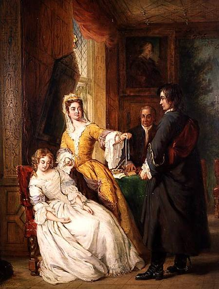 Love Token - by William Powell Frith (1819-1909, United Kingdom)