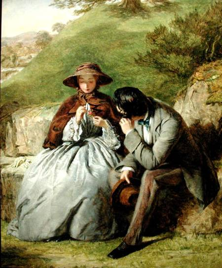Lovers - by William Powell Frith (1819-1909, United Kingdom) | Oil Painting | WahooArt.com