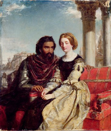 Othello And Desdemona by William Powell Frith (1819-1909, United Kingdom) | Art Reproductions William Powell Frith | WahooArt.com