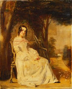William Powell Frith - Portrait Of Mary Freer Seated Small Full Length