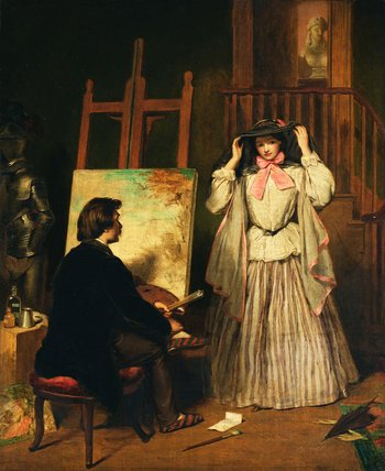 The Artist`s Model by William Powell Frith (1819-1909, United Kingdom) | Museum Quality Reproductions | WahooArt.com
