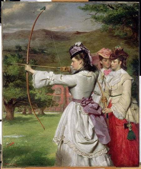 The Fair Toxophilites - by William Powell Frith (1819-1909, United Kingdom)