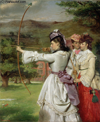 The Fair Toxophilites by William Powell Frith (1819-1909, United Kingdom)