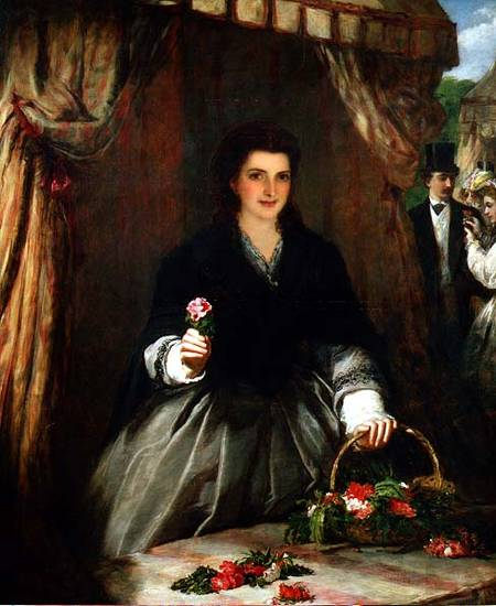The Flower Seller - by William Powell Frith (1819-1909, United Kingdom)