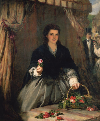 The Flower Seller by William Powell Frith (1819-1909, United Kingdom)
