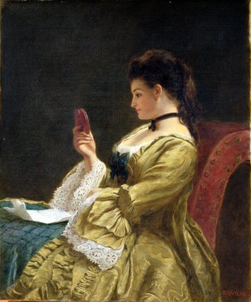 The Miniature by William Powell Frith (1819-1909, United Kingdom) | WahooArt.com