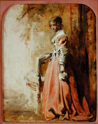 The Pink Dress by William Powell Frith (1819-1909, United Kingdom) | Museum Art Reproductions William Powell Frith | WahooArt.com