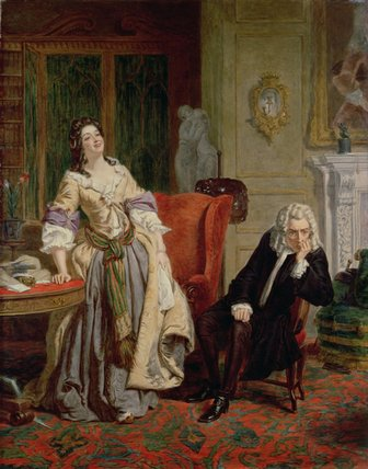 The Rejected Poet - by William Powell Frith (1819-1909, United Kingdom)