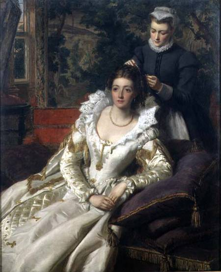 The Toilet - by William Powell Frith (1819-1909, United Kingdom)