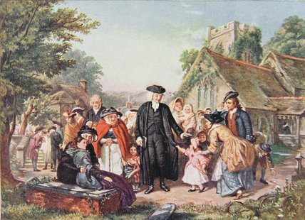 The Village Clergyman by William Powell Frith (1819-1909, United Kingdom) | Painting Copy | WahooArt.com