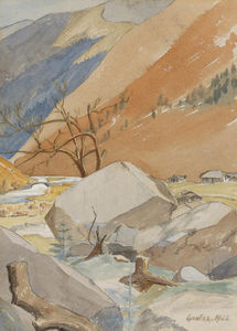 William Rothenstein - On The Way To Everest