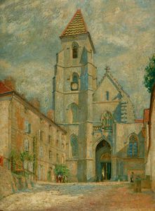 William Rothenstein - The Church Of St Seine L'abbaye
