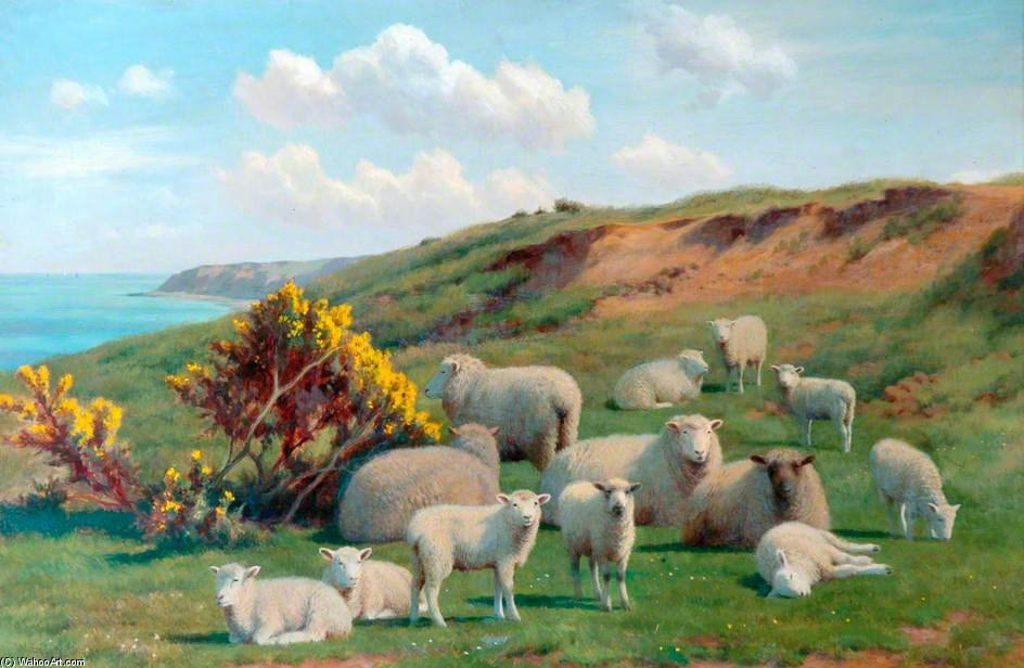 Sheep by William Sidney Cooper (1854-1927)