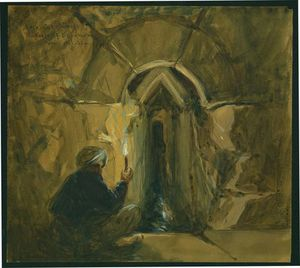 William Simpson - Rock-cut Tunnel, Pools Of Solomon
